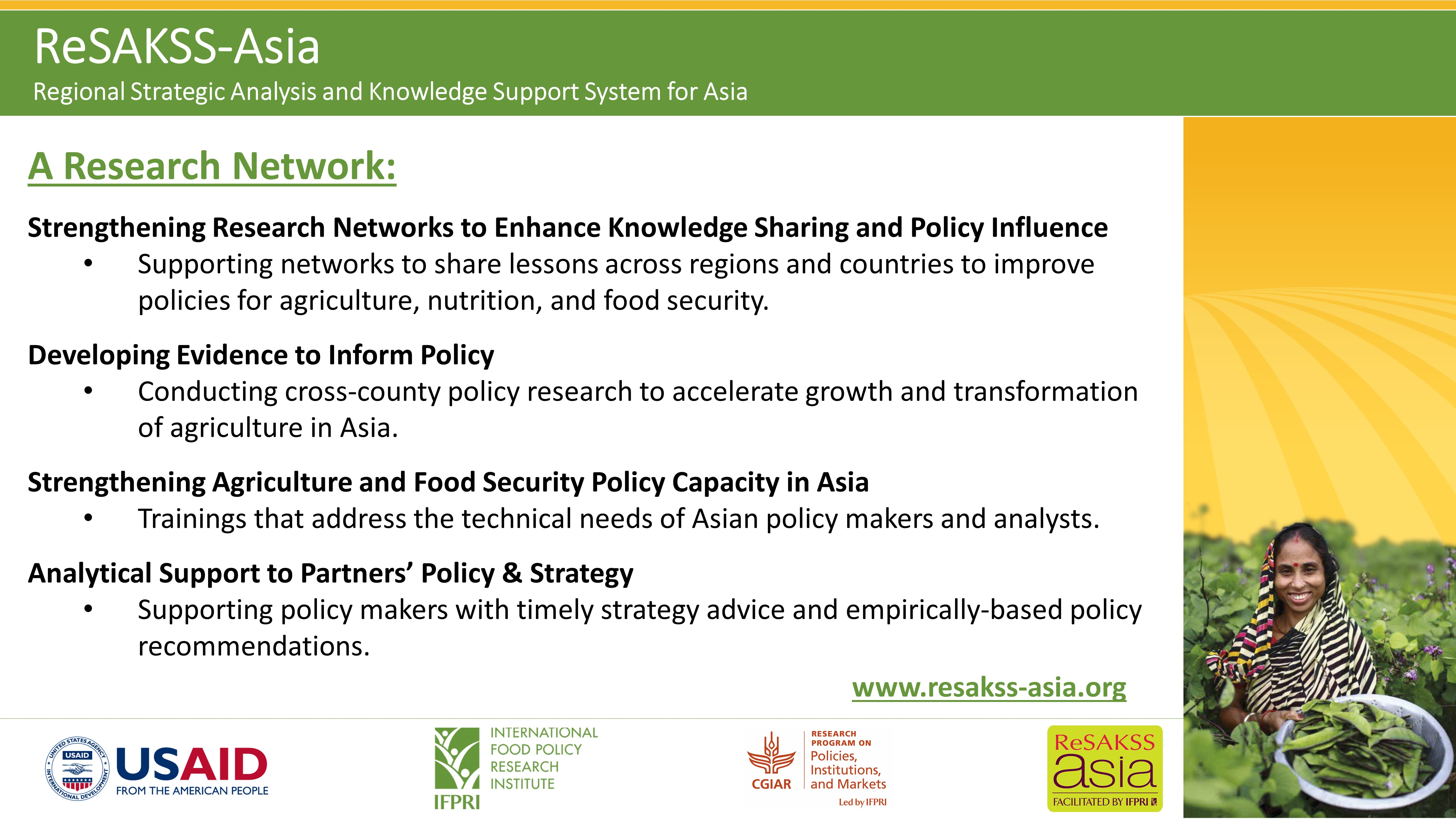 ReSAKSS-Asia Regional Strategic Analysis and Knowledge Support System for Asia