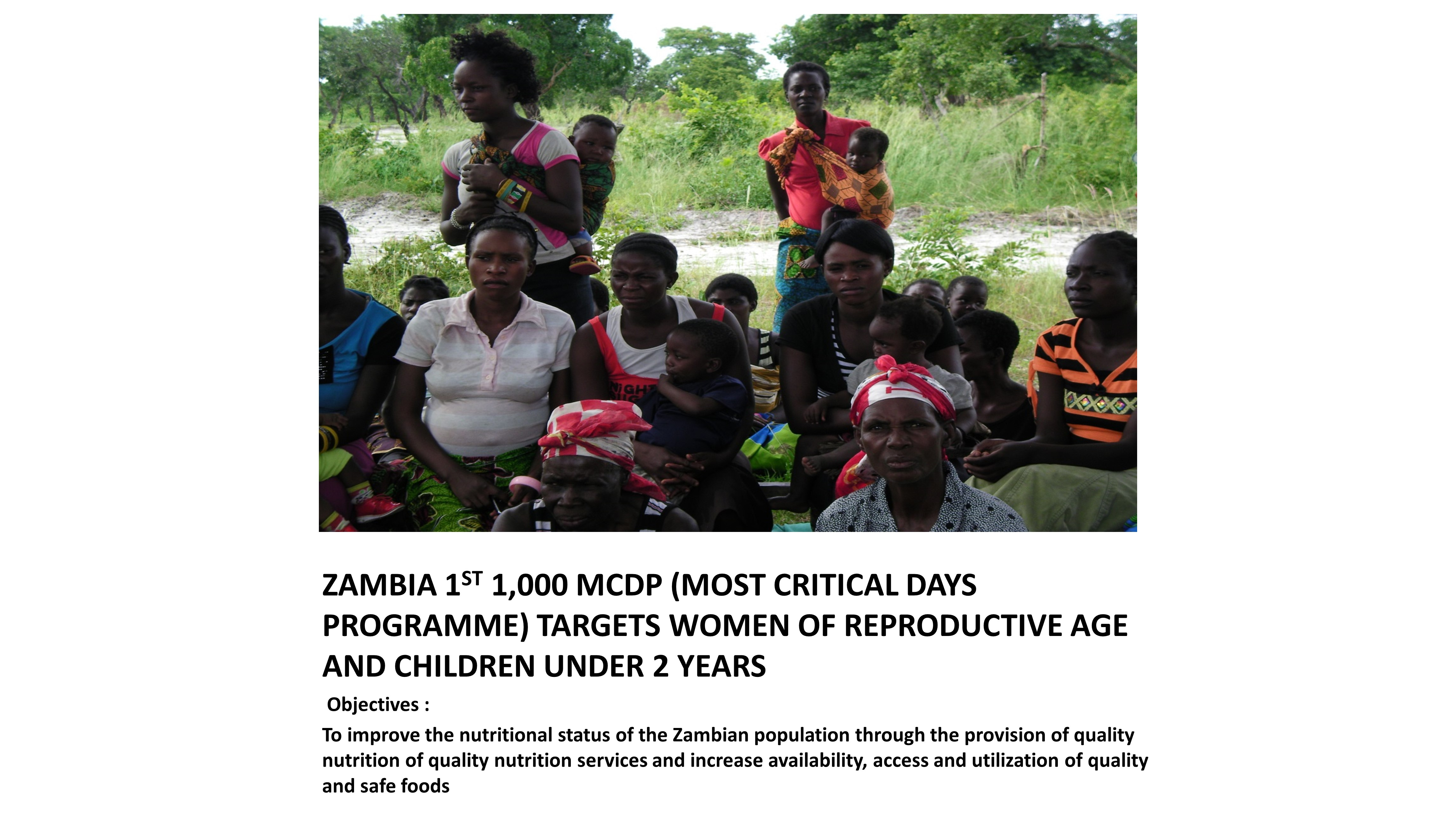 Zambia's First 1,000 MCDP (Most Critical Days Programme)