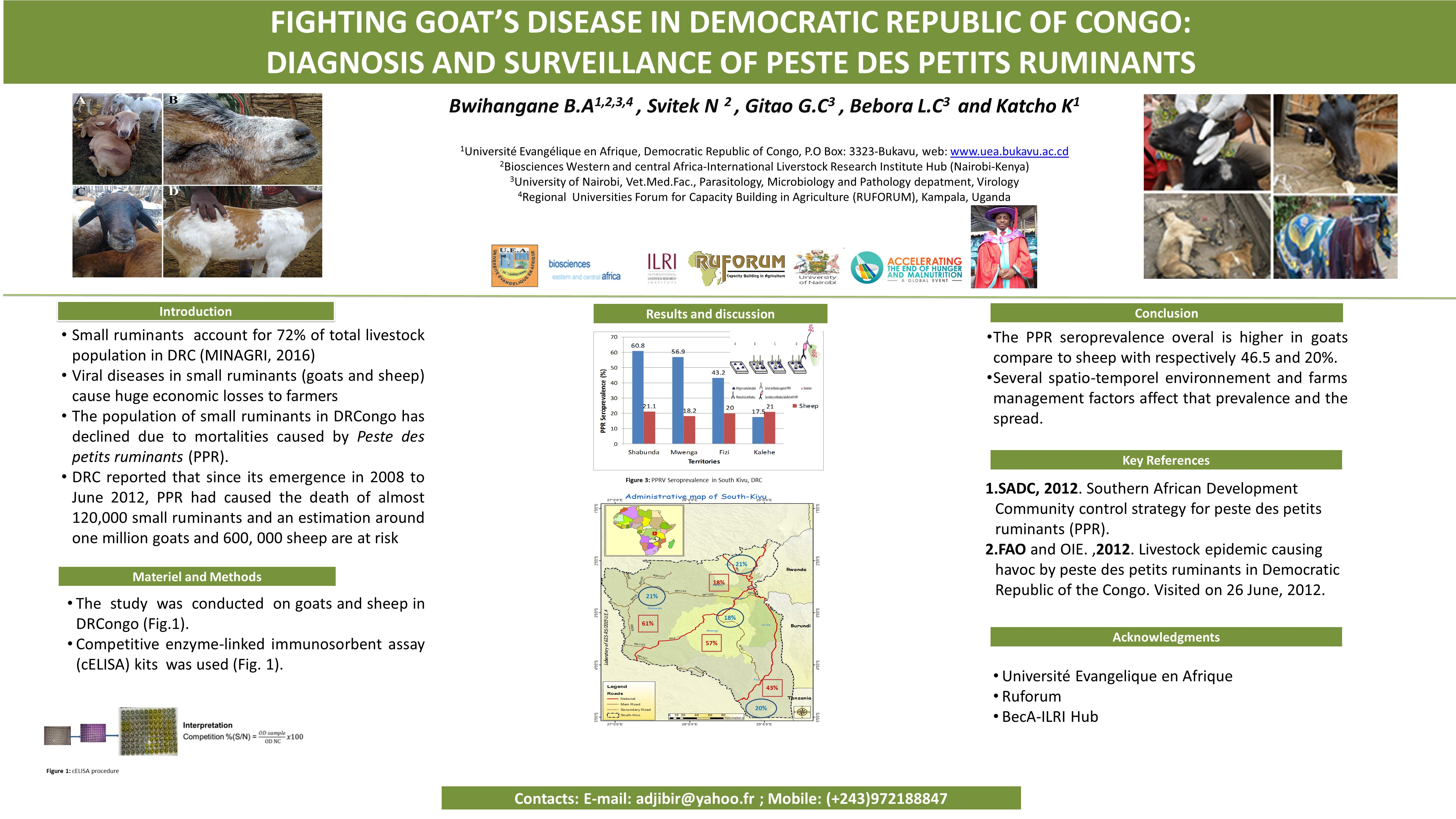Fighting Goat's Disease in Democratic Republic of Congo: Diagnosis and Surveillance of Peste Des Petits Ruminants