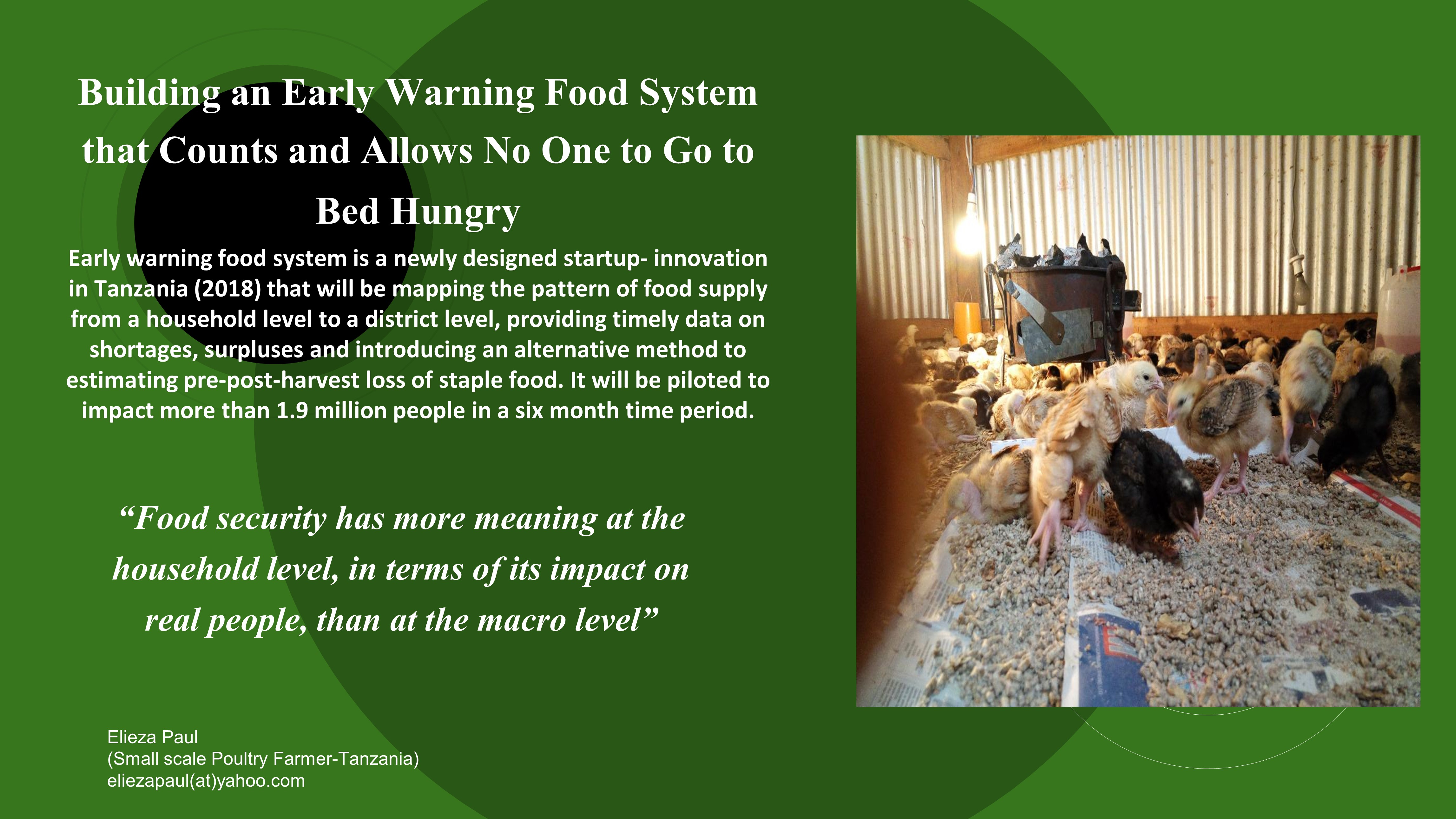 Building an Early Warning Food System that Counts