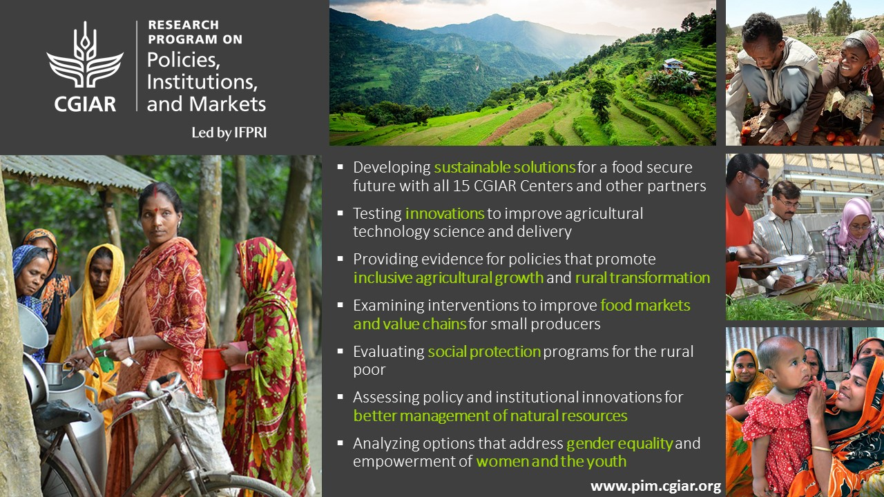 CGIAR Research Program on Policies, Institutions, and Markets