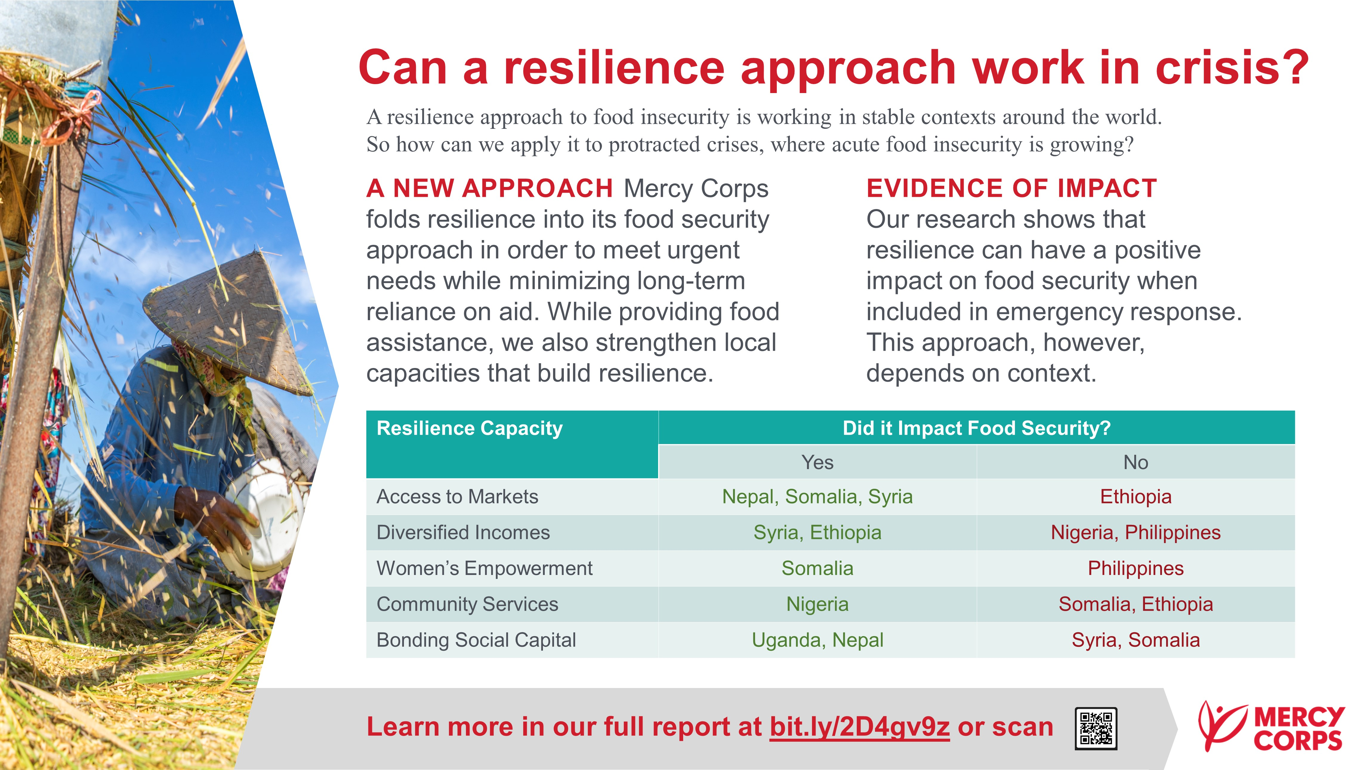 Can a Resilience Approach Work in Crisis?