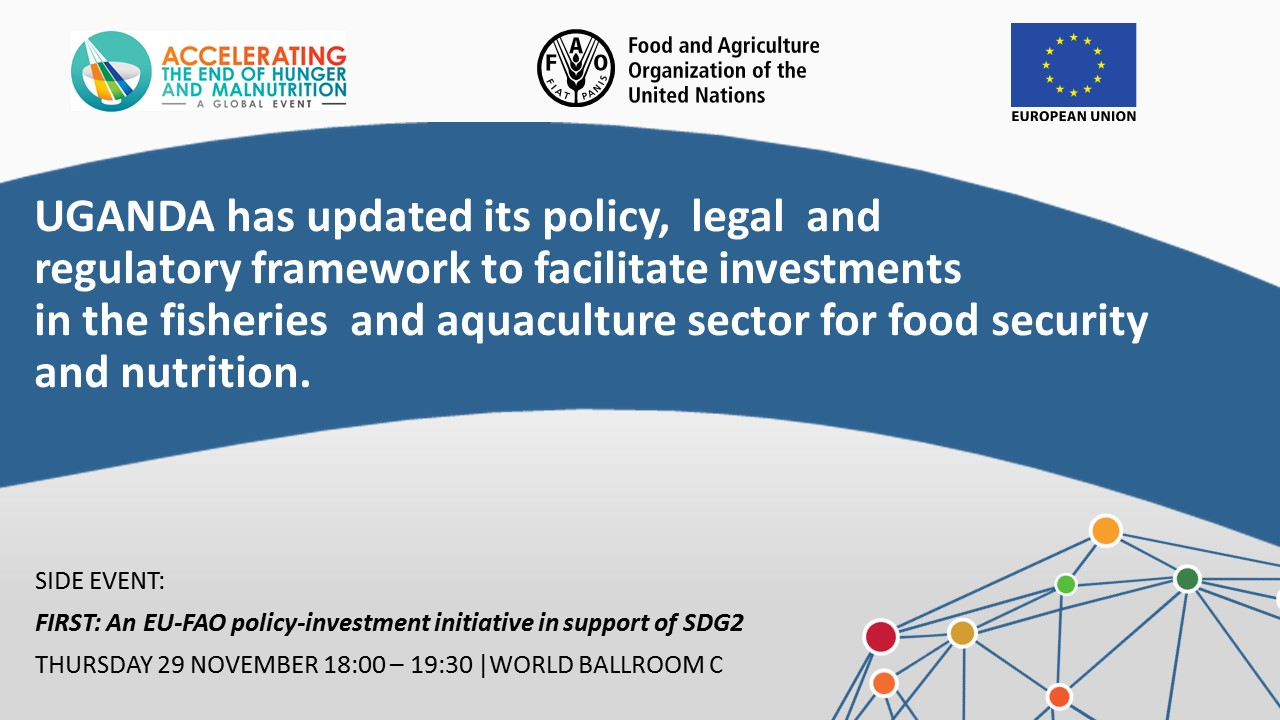 UGANDA has updated its policy,  legal  and regulatory framework to facilitate investments in the fisheries  and aquaculture sector for food security and nutrition